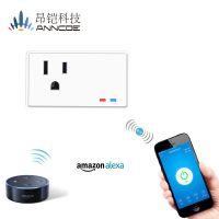 迷你智能插座手机遥控无线美式插座适配器电源插座 alexa语音声控