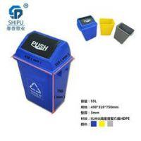 颜色多样 款式多弹盖式垃圾桶 重庆厂家直销