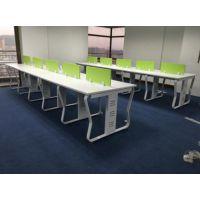 定做铝合金工位桌 合肥屏风隔断电脑桌 板式办公桌免费测量