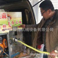 吉林新款车载膨化机 4缸汽油膨化机 流动式玉米膨化机 振德牌