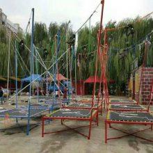 湖南双牌单人儿童钢架蹦极多少钱一台,小型蹦极跳跳床厂家热销