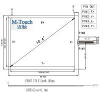 M-Touch工业10.4寸4:3嵌入式工控机4线电阻式触摸屏外屏控制器内置USB线