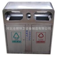 河北沧辉厂家直销 不锈钢户外垃圾桶 果皮箱 环卫大号 小区城市垃圾箱