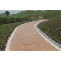 温州勤路景观艺术压花地坪/生态园林压模路面材料