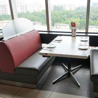 南京市铸铁十字脚餐桌椅创意简约现代咖啡厅西餐厅桌椅组合