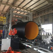 600mm口径pe钢带排污管工艺