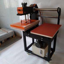东莞上移动液压双工位烫画机 液压服装烫钻机恒钧 服装转印机 印画机