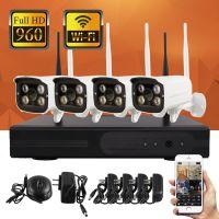 960P无线监控设备套装 4路录像机NVR网络摄像头 百万高清夜视