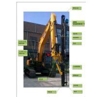 基坑开挖遇风化岩钻孔机械挖机改钻机风化岩拆除柱式分裂棒推介深凯