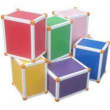 北京昌平小学音乐凳厂家 音乐积木凳价格 六面体彩色凳 可定做