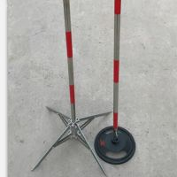 道路施工安全警示带围旗围网杆隔离栏 圆墩式支架立柱 3公斤5公斤价格 河北双冠电气生产销售