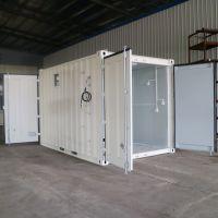 河北定做4米非标集装箱的厂家飞翼采用优质岩棉净化板保温