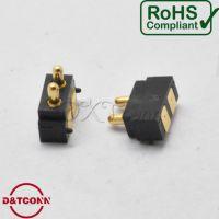 【DXT】顶针方2PIN间距2.5PH高5.5H侧按POGOPIN大电流公座镀金