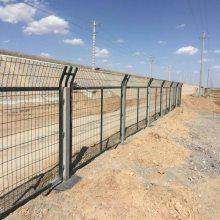 珠海刺丝滚网 茂名火车轨道防护栅栏 铁路桥下安全铁丝网护栏