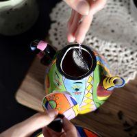 手绘陶瓷毕加索茶具套装个性创意茶壶一壶一杯办公室茶具礼盒套装