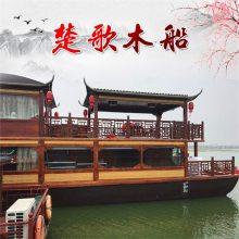 江西出售纯手工制作双层画舫船 观光船 餐饮船 水上房船价格实惠