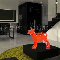 玻璃钢创意狗眼睛狗几何立体雕塑室内商场工艺品摆件