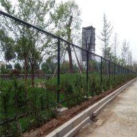 球场勾花网护栏网 操场浸塑铁丝网围栏网 运动场篮球场围网