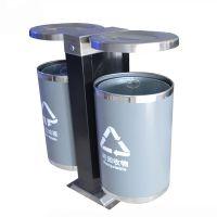 绿宇 HDT-09 不锈钢分类垃圾桶 垃圾桶 分类果皮箱