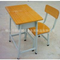 广东学生课桌椅,学校课桌椅单人金属学生台椅厂家直销