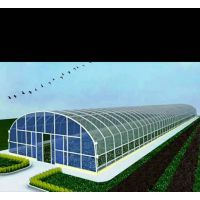 河北深州市太阳能板发电塑料薄膜圆顶温室大棚生产加工定制厂家报价