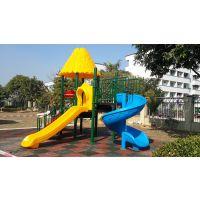 青岛室外游乐园社区供儿童玩乐的滑梯 色彩鲜艳美观大方可加工定做 BK-8006儿童游乐功能齐全