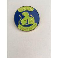 济南狮子会金属车标订做学校纪念校徽胸章设计订做