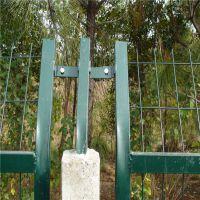 巨人铁路护栏网 高铁隔离栅 浸塑墨绿色框架围栏网现货
