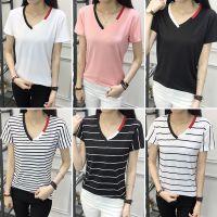 韩版夏季新款女装时尚棉T宽松显瘦大码数字印花圆领短袖T恤女