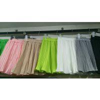 库存雪纺半身裙批发 时尚半身裙 工厂便宜批发 超低价女装货源