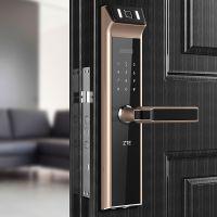 杭州 ZTE中兴智能锁636 指纹锁 密码锁 联网款 银色