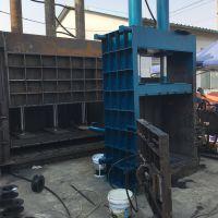 热销废铝不锈钢打包机300吨大型立式金属打包机现货 山东思路定做液压机械