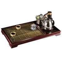 节节高茶台新中式纯铜实木茶盘茶几海实心铜条仿古铜条