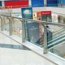 耀恒 供应大型商场中庭栏杆扶手 商城楼梯护栏 开发房产不锈钢工程立柱304