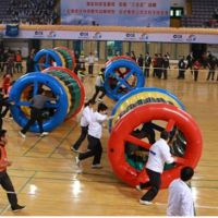 亲子趣味运动会器材 动感五环 大型充气活动道具 校运会拓展训练器材