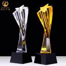 常州经销商奖杯制作,常州水晶奖杯批发,五角星奖杯定制