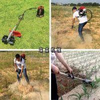 四冲程背负式果园除草机 新型农田割草机 农用便携式除草松土机