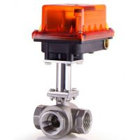 上海鼎滋S25-3ST-H电动式三通阀,欣达SHIADR高温支架式电动螺纹球阀