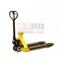 手动液压搬运车 带打印机电子称重液压搬运车,2T 690×1150mm PU双轮/橡胶大轮 黄色