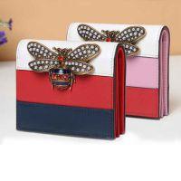 蜜蜂中长款女士钱包加工 时尚女士手拿包订做