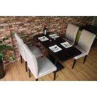 咖啡店简约布艺餐椅 西餐厅奶茶店餐桌椅组合批发