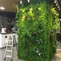 仿真植物墙买卖家东莞紫萱工艺品 花墙 背景墙 绿植墙 室内外装饰