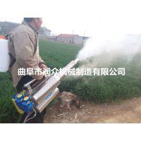 夏季蔬菜大棚打药弥雾机 果树杀虫汽油烟雾机 弥雾机配药步骤