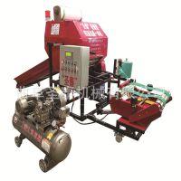 气压自动式开仓秸秆牧草打捆机 产量高速度快青贮饲料打捆包膜机