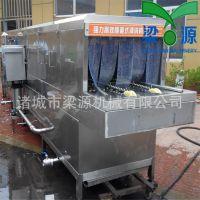 食品塑料筐清洗机蒸汽式全自动清洗机豆芽筐清洗机设备厂家直供