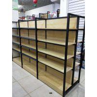 天津钢木货架新款超市展架设计定做便利店连锁店商超架子展柜柜台办公文具货架
