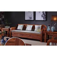 中山市红木家具新中式休闲沙发6件套刺猬紫檀