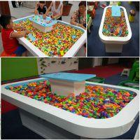 儿童益智玩具DIY太空沙桌串珠桌积木桌沙盘游戏桌玩具展示柜厂家直销手工玩具店加盟