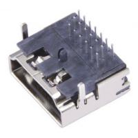 HDMI高清接口母座 A型 19Pin 三排插针90度 两脚鱼叉四脚插板DIP