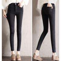 便宜女士牛仔裤弹力小脚裤高腰女士修身牛仔裤特价清货尾货批发厂家